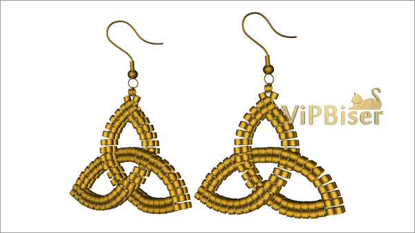Beaded Earrings Celtic Knot Triquetra. Pattern