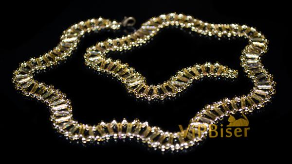 Gold Wave Beaded Necklace Tutorial Photo 1 By Olesya Romaniuk