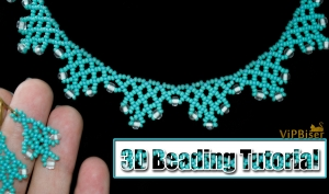 Beaded Necklace with Preciosa 6/0 and 11/0 SeedBeads. 3D Beading Tutorial