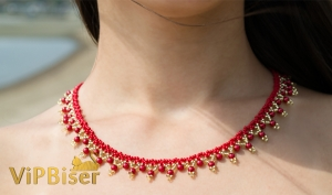 Beaded Necklace Sunrise. 3D Tutorial