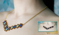 Easy Beaded Necklace. 3D Peyote Stitch Tutorial